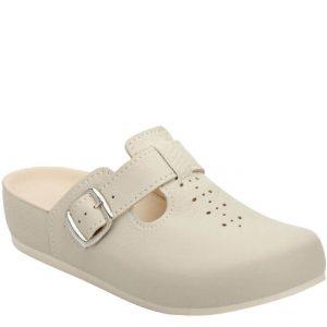 5L Clinic klompa bež (kožna) - Grey anatomska obuća