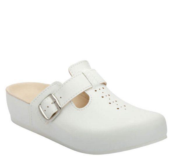 5L Clinic klompa bijela (kožna) - Grey anatomska obuća
