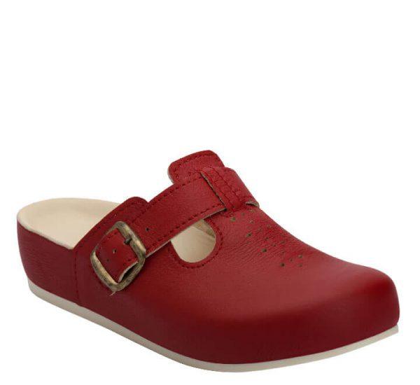 5L Clinic klompa crvena (kožna) - Grey anatomska obuća