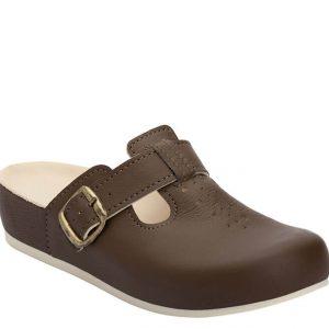 5L Clinic klompa smeđa (kožna) - Grey anatomska obuća