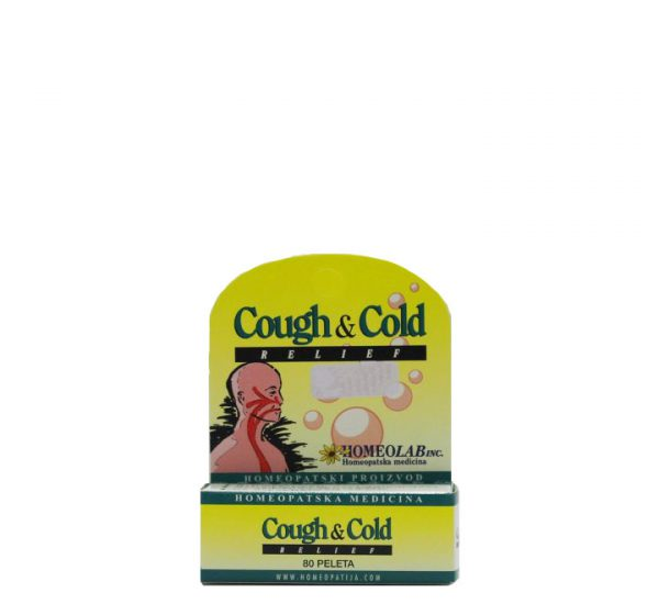 Homeolab Cough & Cold Relief - Homeopatski proizvod - 80 peleta