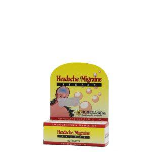 Homeolab Headache/Migraine Relief - Homeopatski proizvod - 80 peleta