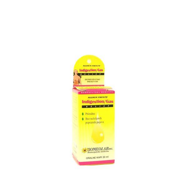 Homeolab Indigestion Gas Relief - Homeopatski proizvod - 30 ml