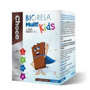 Biorela Choco Multi Kids - mliječna čokolada - 20 prutića