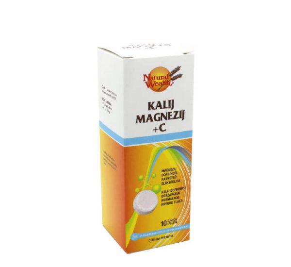 Natural wealth kalij magnezij +c - šumeće tablete - 10 tableta
