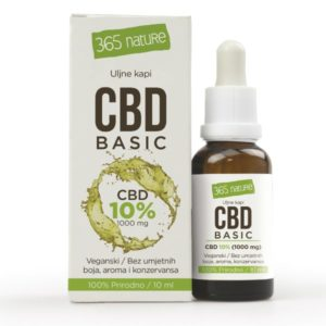 CBD basic ulje 10% 10 mL - 365 Nature