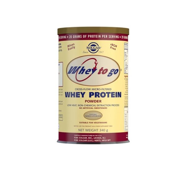 SOLGAR Whey to go proteini vanilija